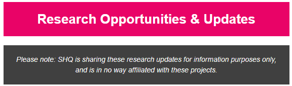 research opportunities and updates